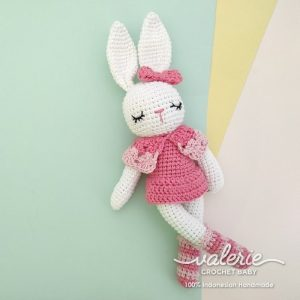 Boneka Rajut Bunny Vanilla - Valerie Crochet