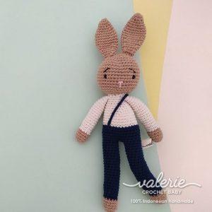 Valerie Crochet - Blue Strap Bunny