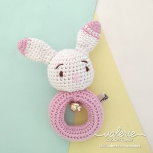 Rattle Rajut - Cute Pink