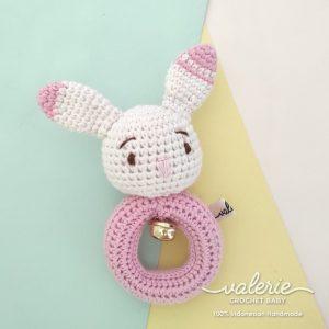 Rattle Rajut - Cute Pink