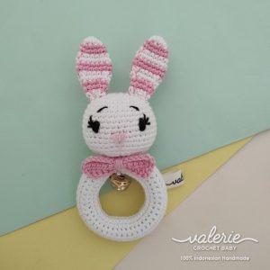Rattle Rajut - Bunny lucu - Valerie Crochet
