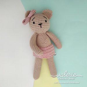 Boneka Rajut Boneka Brownie Bear - Valerie Crochet
