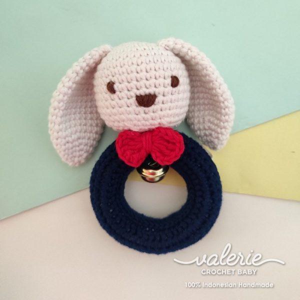 Rattle Rajut Puppy Navy - Valerie Crochet