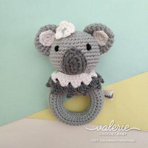 Rattle Rajut CUte Koala - Valerie Crochet