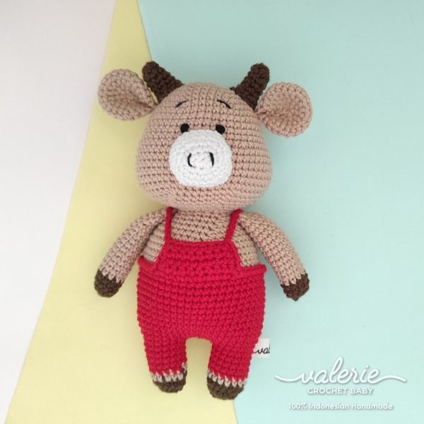 Bpneka Rajut Cow in Red - Valerie Crochet