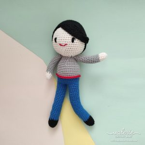 Boneka Rajut Cheerful Boy - Valerie Crochet