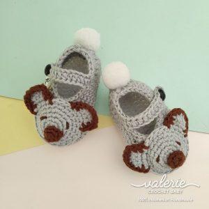 Sepatu Rajut Cute Koala - Valerie Crochet