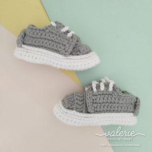 Sepatu Rajut Casual Grey - Valerie Crochet