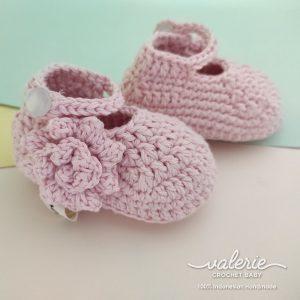 Sepatu Rajut Big Flower - Valerie Crochet