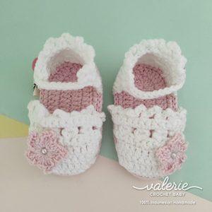 Sepatu Rajut Sweet Vanilla - Valerie Crochet