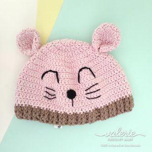 Topi Rajut Cute Kitten - Valerie Crochet