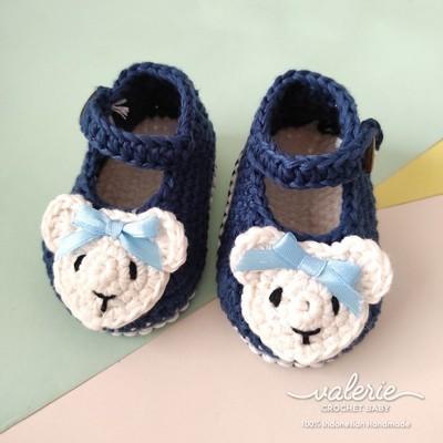 Sepatu Rajut Cutie Bear - Valerie Crochet