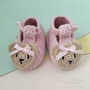 Sepatu Rajut Girlie Bear - Valerie Crochet