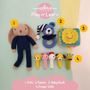 Set Rajut Play n Learn - Valerie Crochet