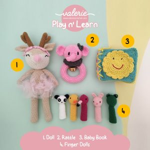 Set Rajut Play n Learn - Valerie Crochet
