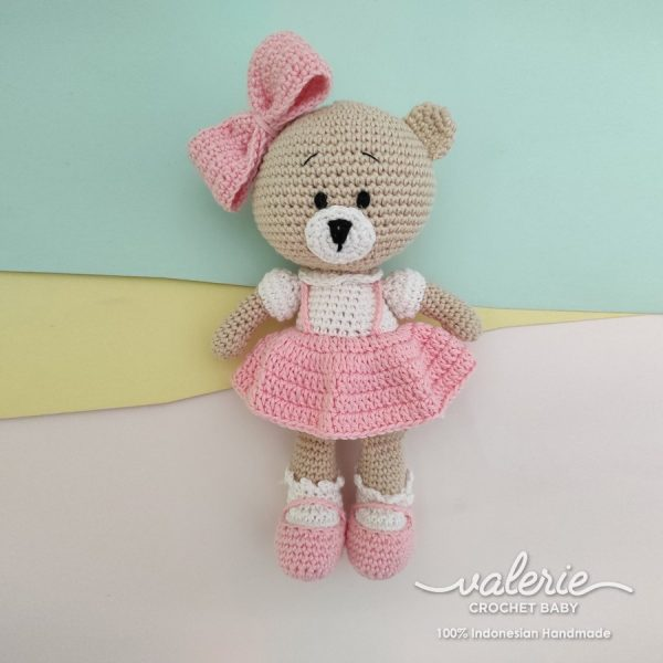 Boneka Rajut Cutie Lil Bear - Valerie Crochet