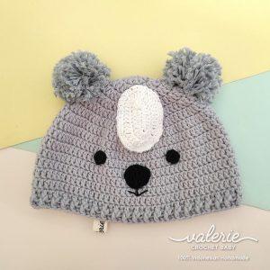 Topi Rajut Cute Koala - Valerie Crochet