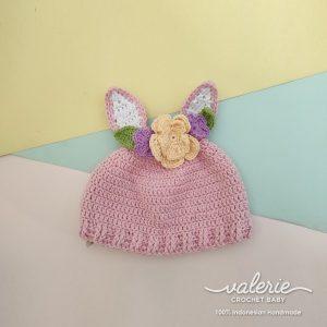 Topi Rajut Cute Bunny - Valerie Crochet