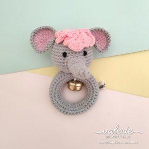 Rattle Rajut Cute Elle - Valerie Crochet