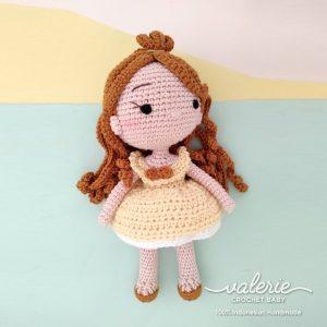Boneka Rajut Princess Belle - Valerie_Crochet
