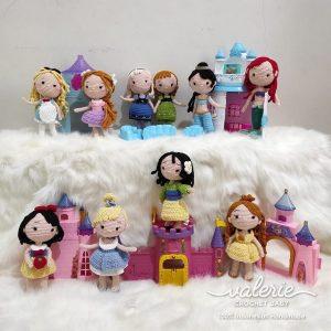 Boneka Rajut Princess Set - Valerie_Crochet
