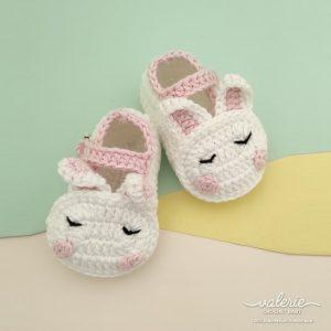 Sepatu Rajut Soft Bunny- Valerie Crochet