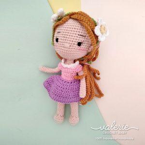 Boneka Rajut Princess Rapunzel - Valerie_Crochet