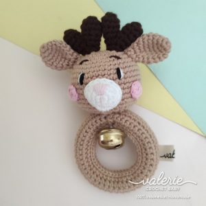 Rattle Rajut Cute Deer - Valerie Crochet