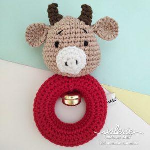 Rattle Rajut Red Buffalo - Valerie Crochet