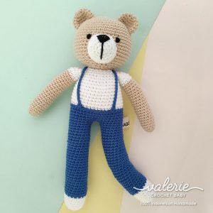 Boneka Rajut Papa Bear - Valerie Crochet