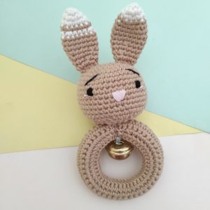 Rattle Rajut Brownie Bunny - Valerie Crochet
